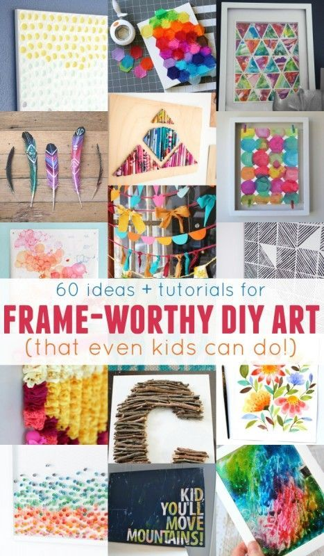 Dress up any wall in your home with these easy wall art projects -- easy enough for both kids AND adults to do! Creative Ideas Quirky Ideas | Pinterest ...  sc 1 st  Pinterest & Dress up any wall in your home with these easy wall art projects ...