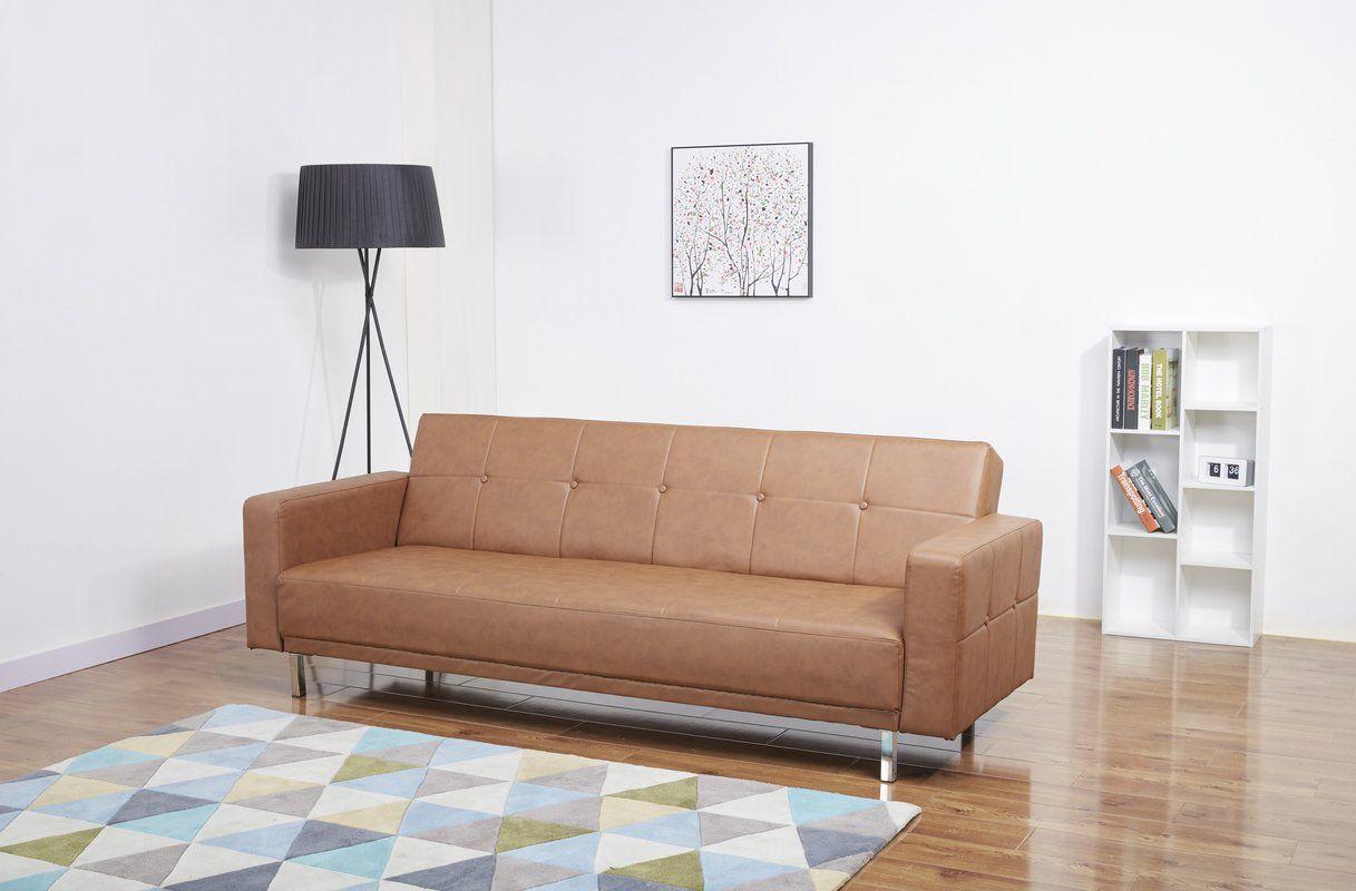 Graham 85 43 Square Arm Sleeper Furniture Sofa Convertible Sofa Bed