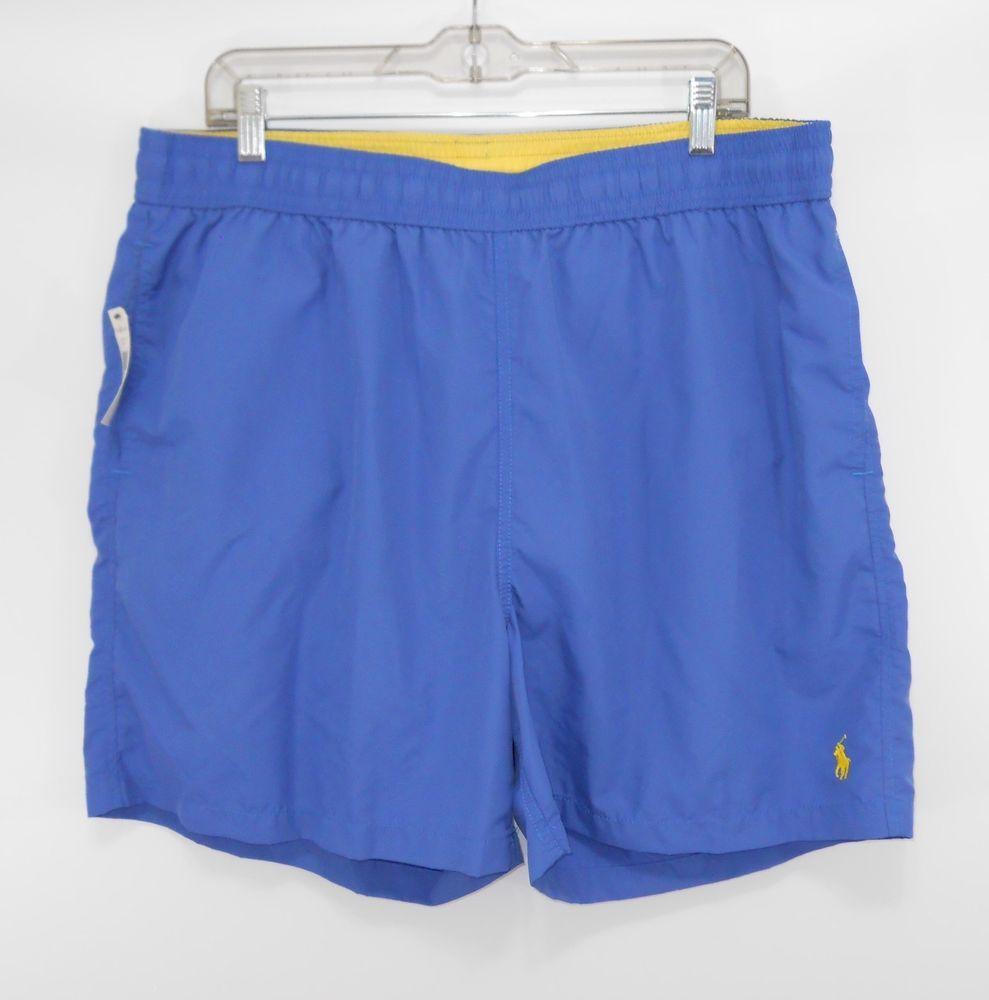 8c6c279ddb ... closeout mens polo ralph lauren trunks shorts classic blue yellow lined  xxl nwt 887436717975 ebay ab5de