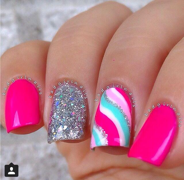 Pink swirl | Nails | Pinterest | Arte de uñas, Diseños de uñas y Uña ...