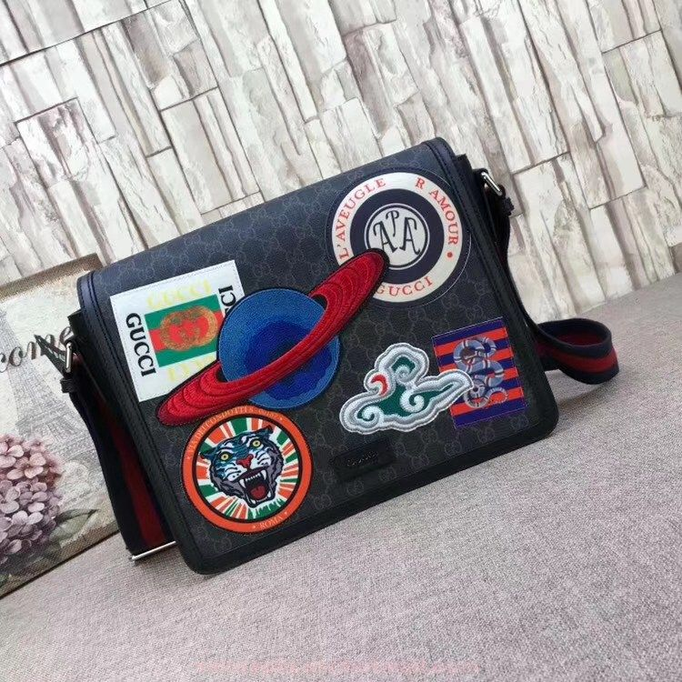 b704fb9fe2b3 Replica Gucci Night Courrier GG Supreme flap messenger Bag 474138_2 ...