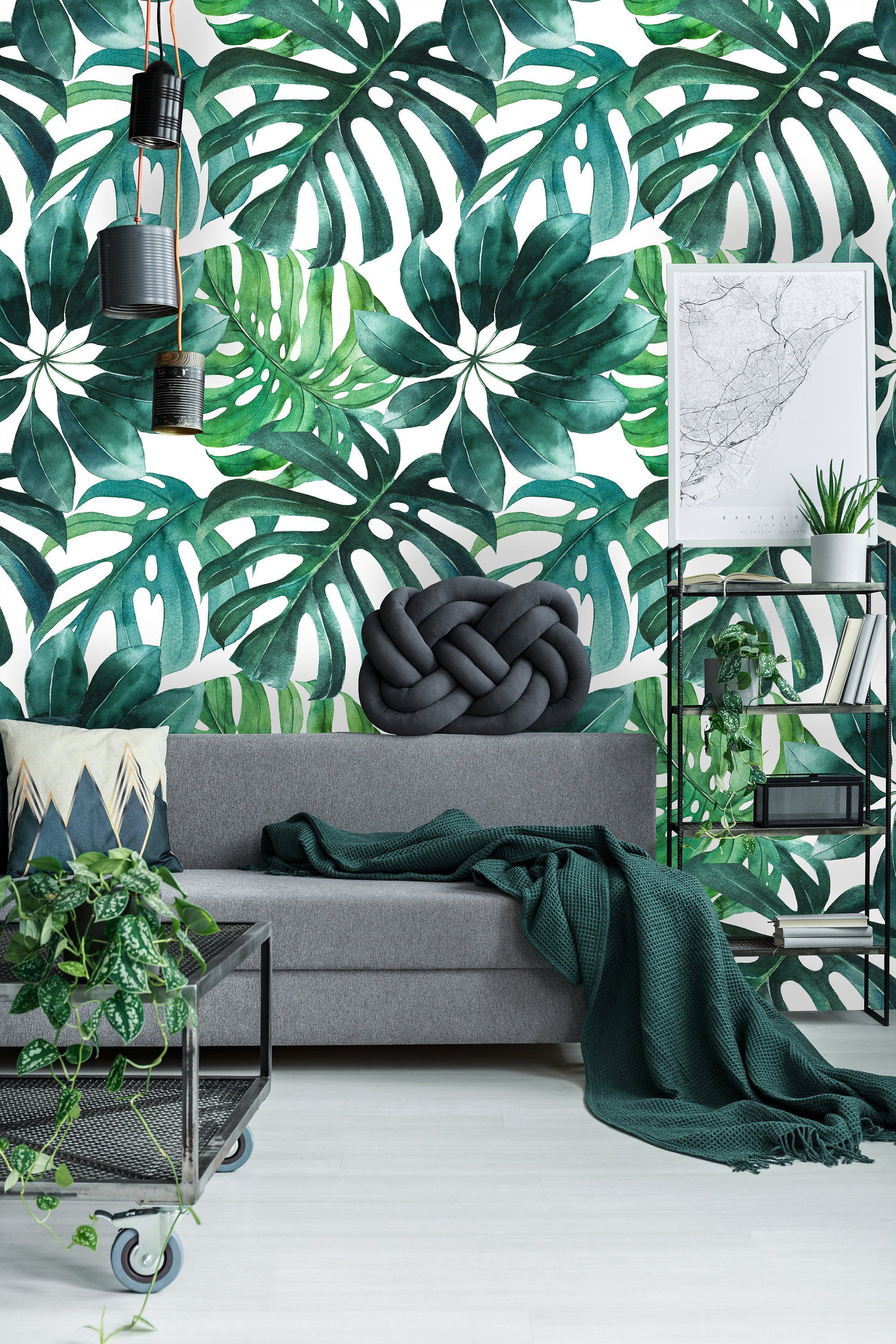 Removable Wallpaper Self Adhesive Wallpaper Green Watercolor Etsy Removable Wallpaper Peel And Stick Wallpaper Wallpaper Roll