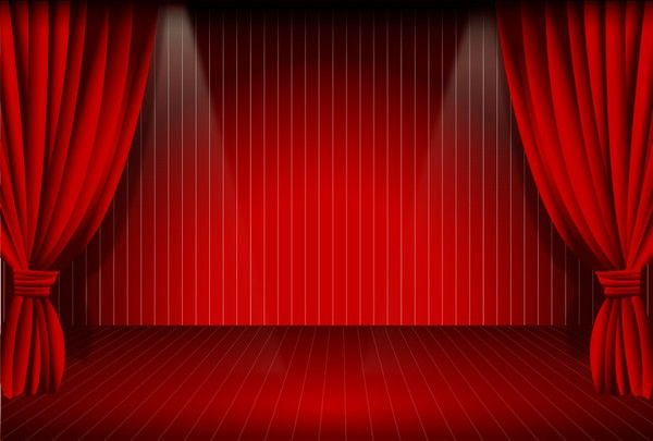 Stage Curtain [AI File] | Free Vector | Pinterest | Curtains and ...