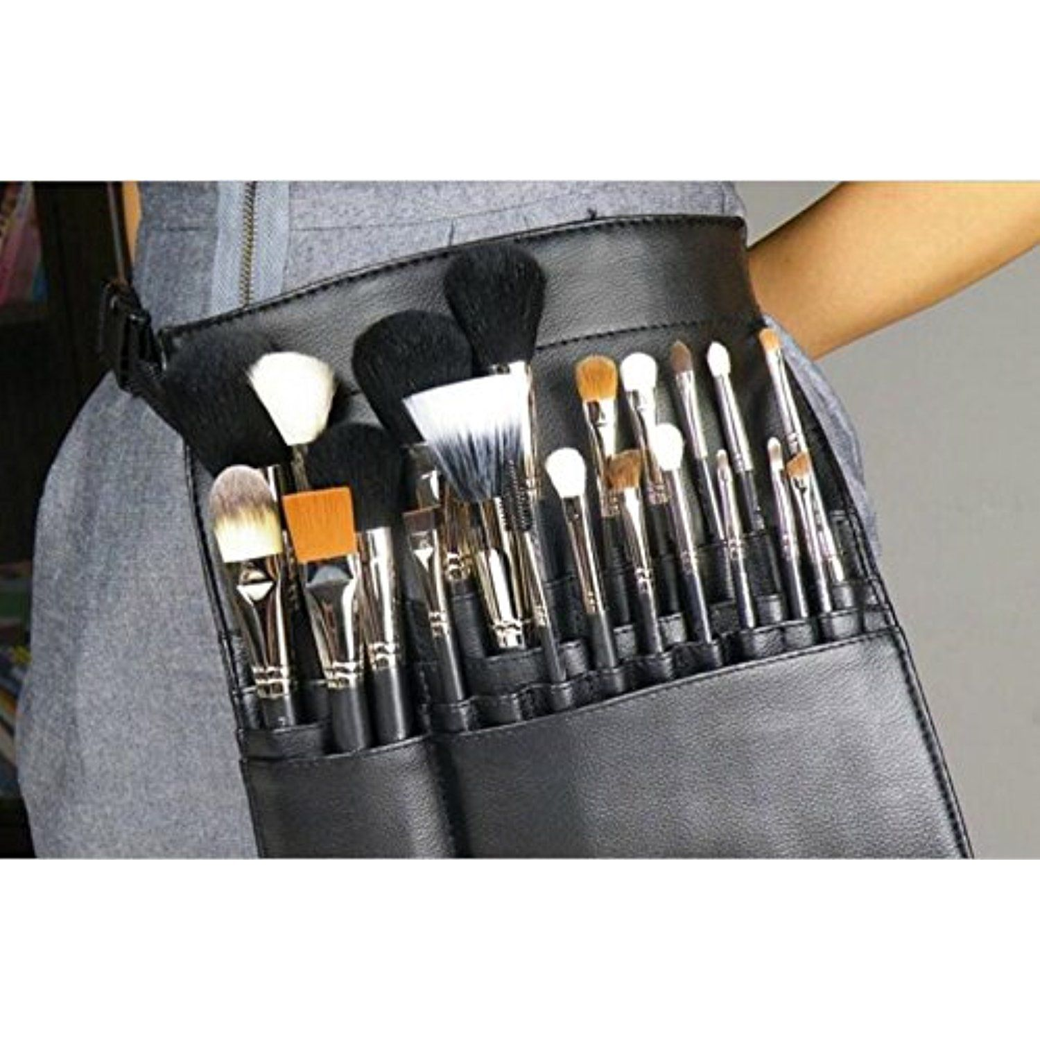 Professional Cosmetic Case Makeup Brush Organizer Makeup Artist Case With Belt Strap Holder Multi Functional Cosmetic Bag Makeup Brush Bag Makeup Brushes Brush