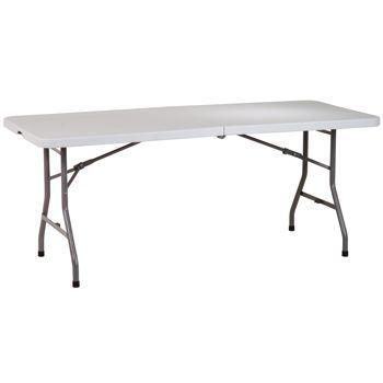 Awesome 6u0027 Center Fold Multipurpose Table, Costco, $67.99
