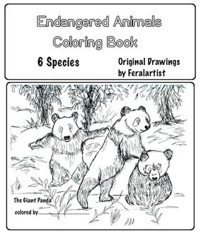 Endangered Animals Coloring Book 7 Different Species Art Science Animal Coloring Books Endangered Animals Coloring Books