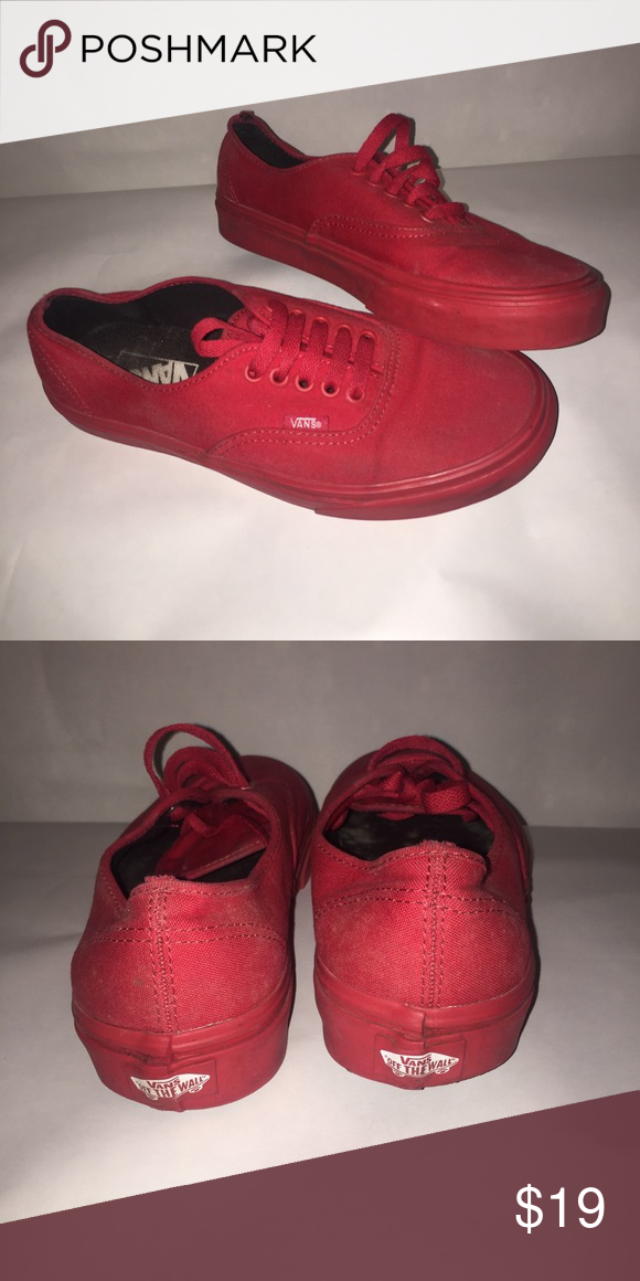 298263177bb Men s Red Vans Size 7 Up for grabs for the pair of red vans Men s size