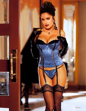 ee38c0feeb Salma Hayek in Old Lingerie is listed (or ranked) 4 on the list The 49  Absolute Best Pictures of Salma Hayek