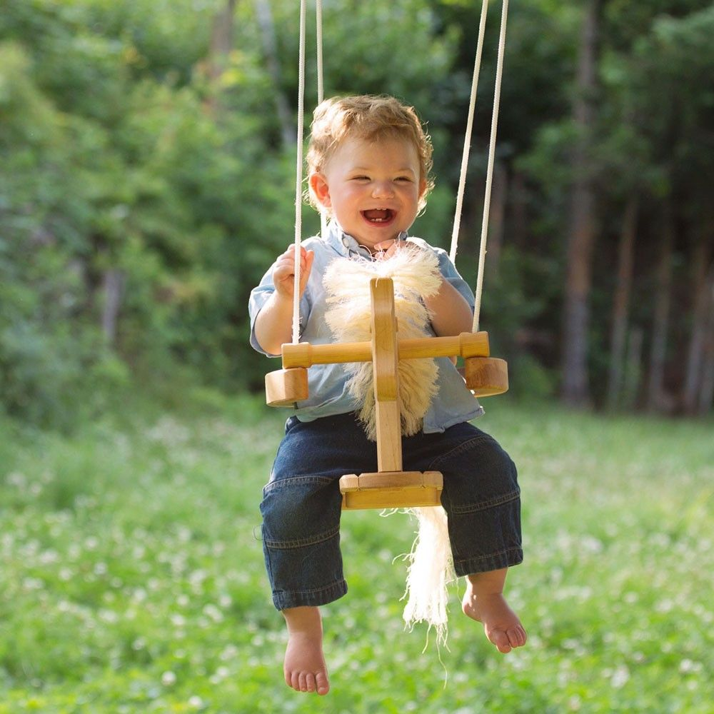 Horse swing wooden horse natural toys and swings