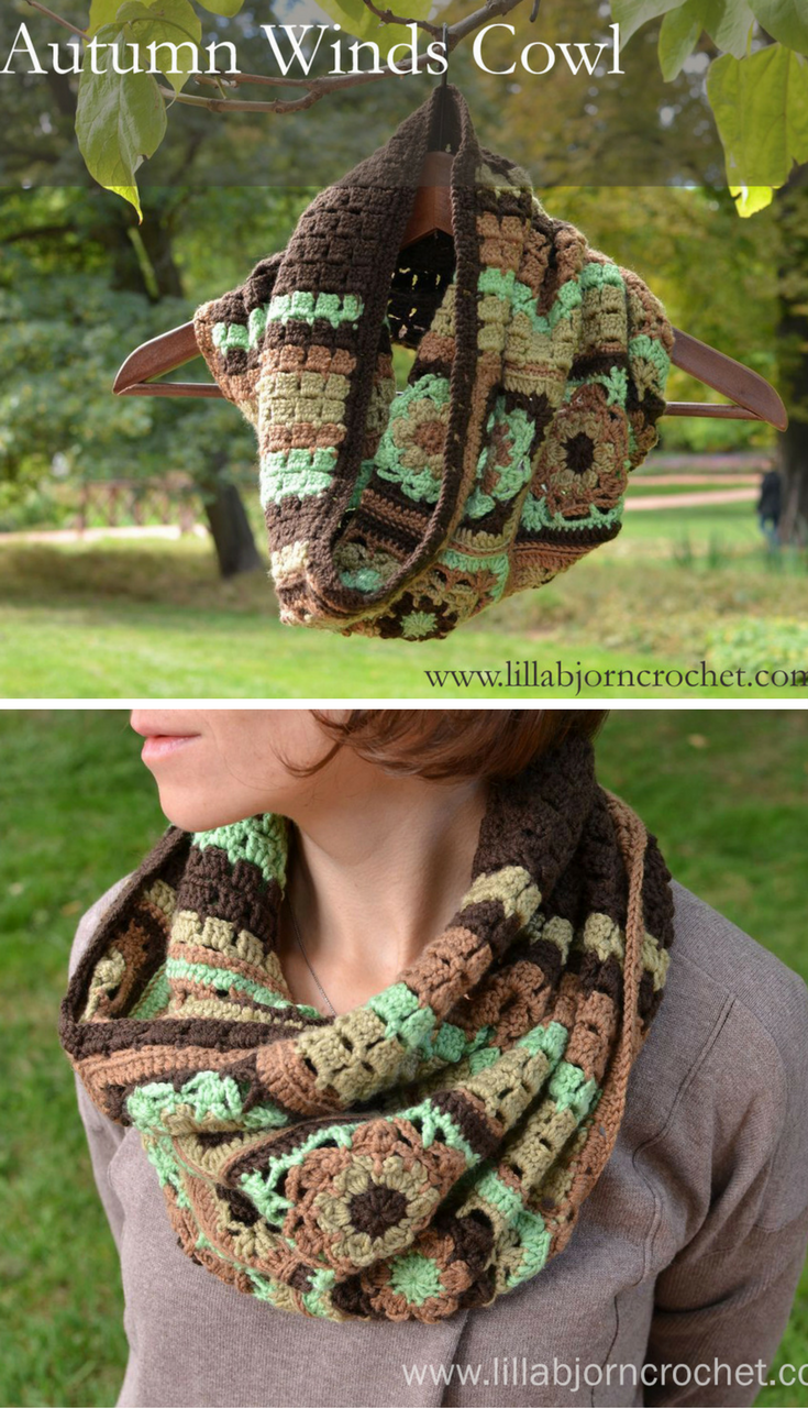 Autumn Winds Cowl: free crochet pattern | Blusas lindas, Bufanda ...