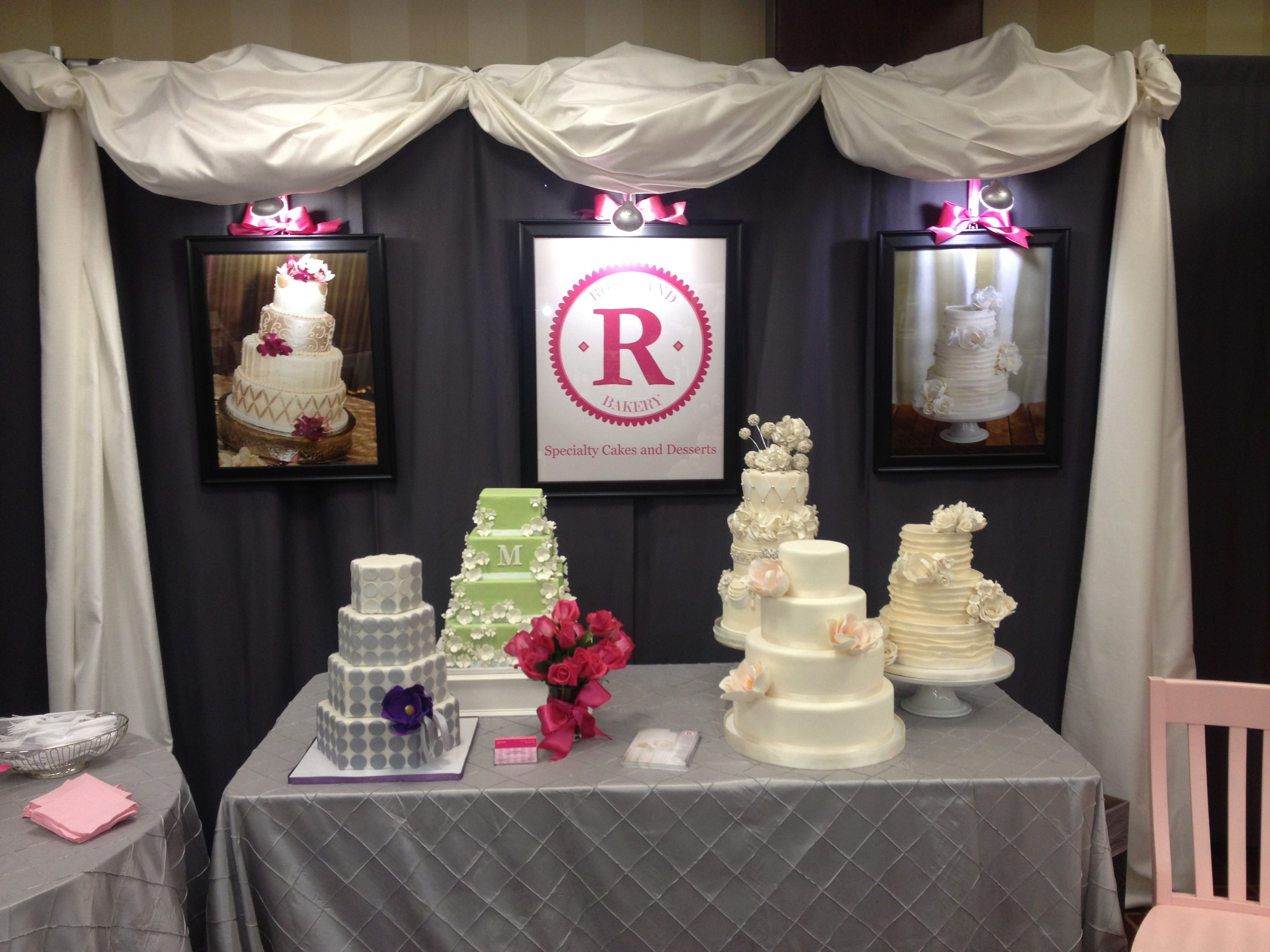 wedding cake bridal expo roseland bakery s bridal show booth cake show ideas 22083
