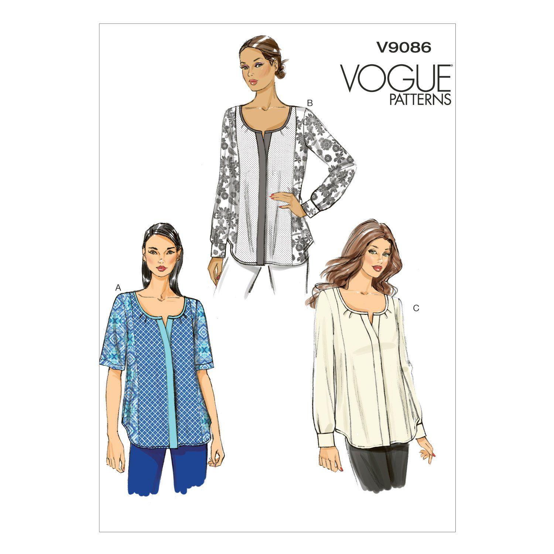 V9086 Vogue Schnittmuster zum Nähen, Elegant, Extravagant, Modisch ...