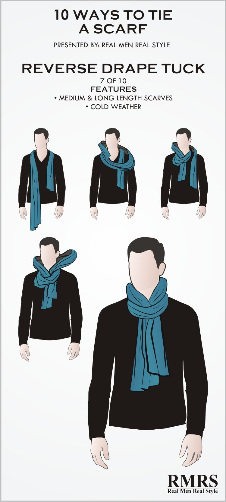 10 manly ways to tie a scarf mode herren mode schal - Herren schal binden ...