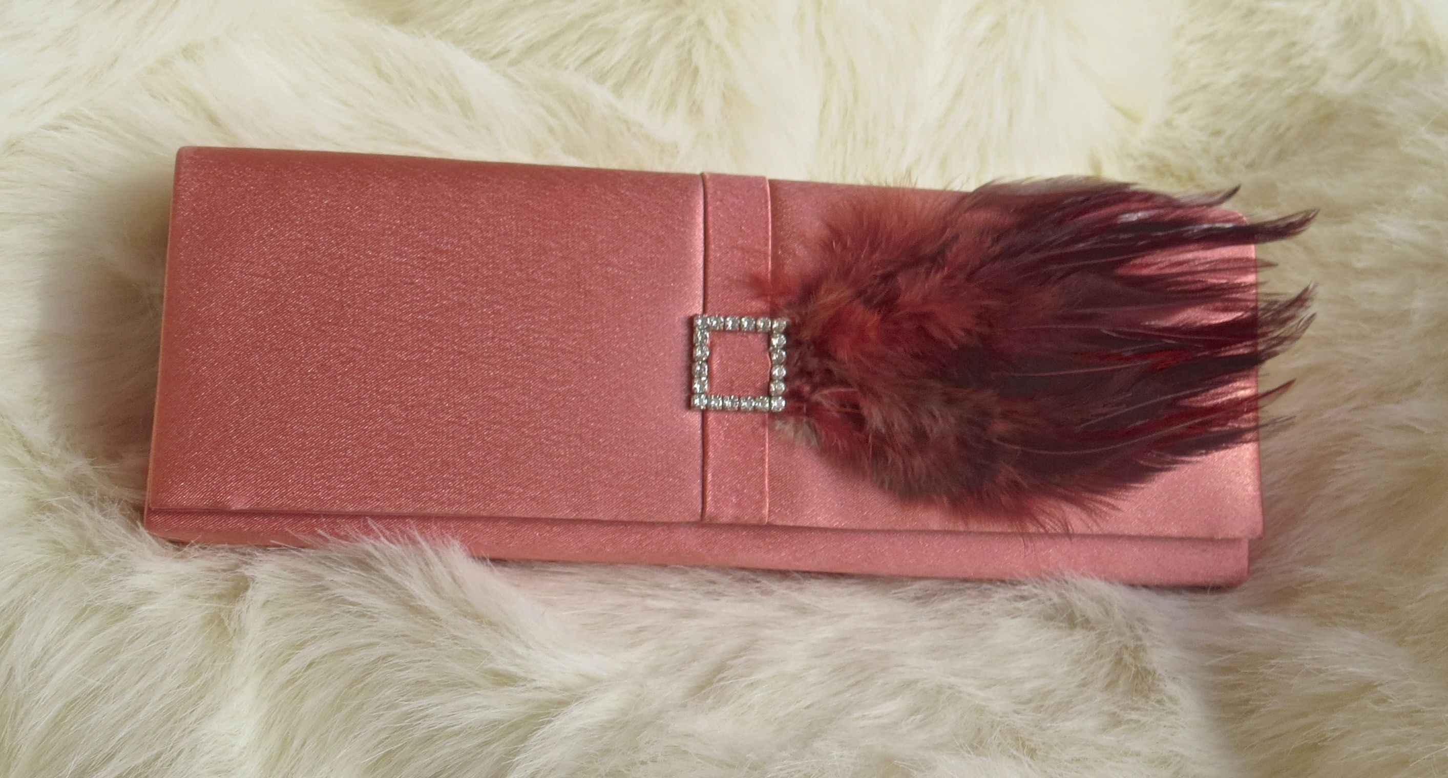 Evening feather clutch by Dazzle Me!