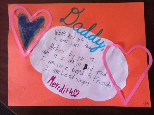 Valentines to Daddy  the valentines day letters my daughter and