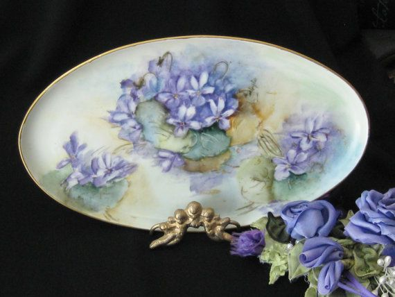 Antique Edwardian Pin Tray Hand Painted with by KISoriginals, $49.00