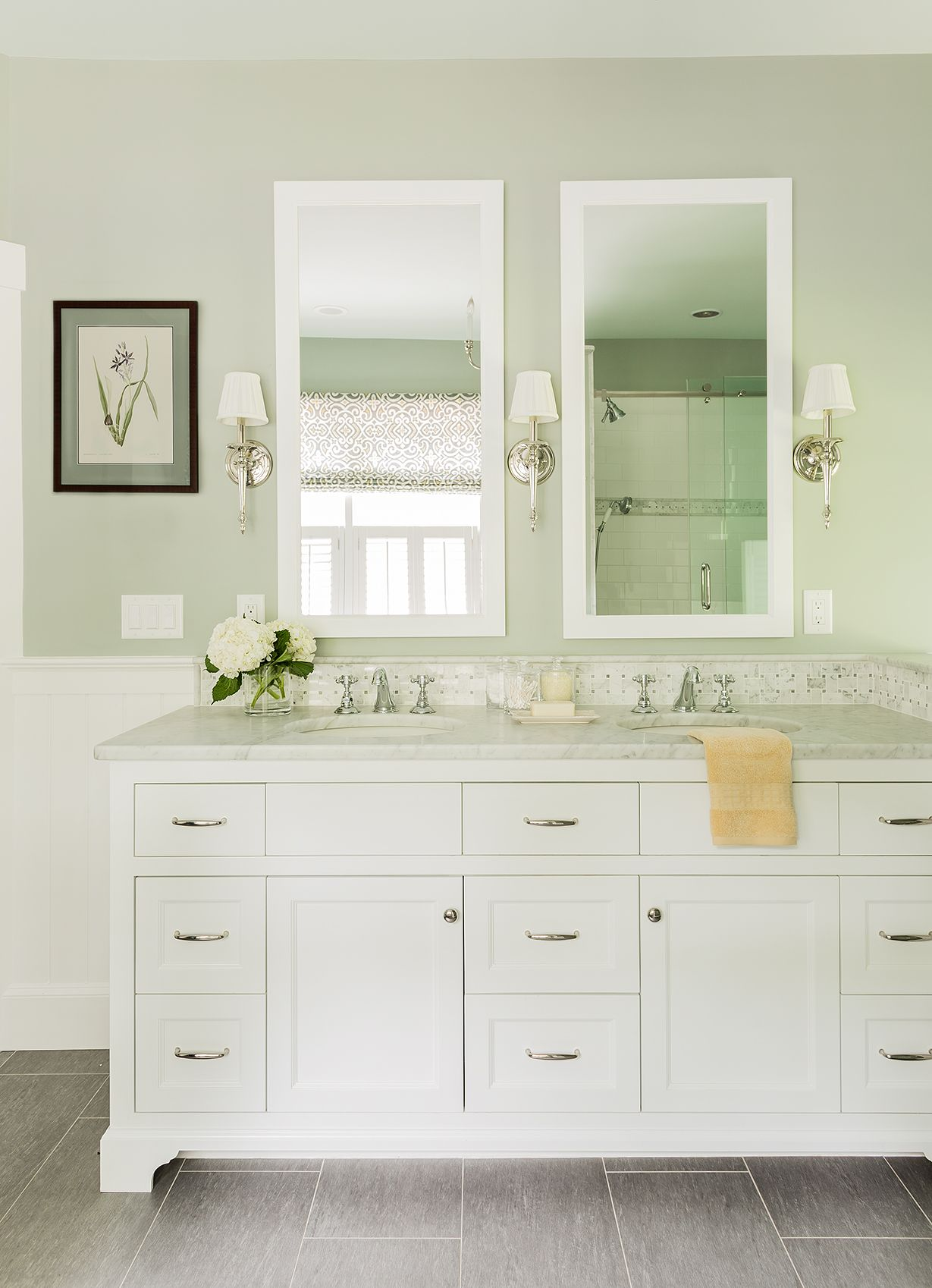 This master bathroom remodel was part of a larger renovation of a ...
