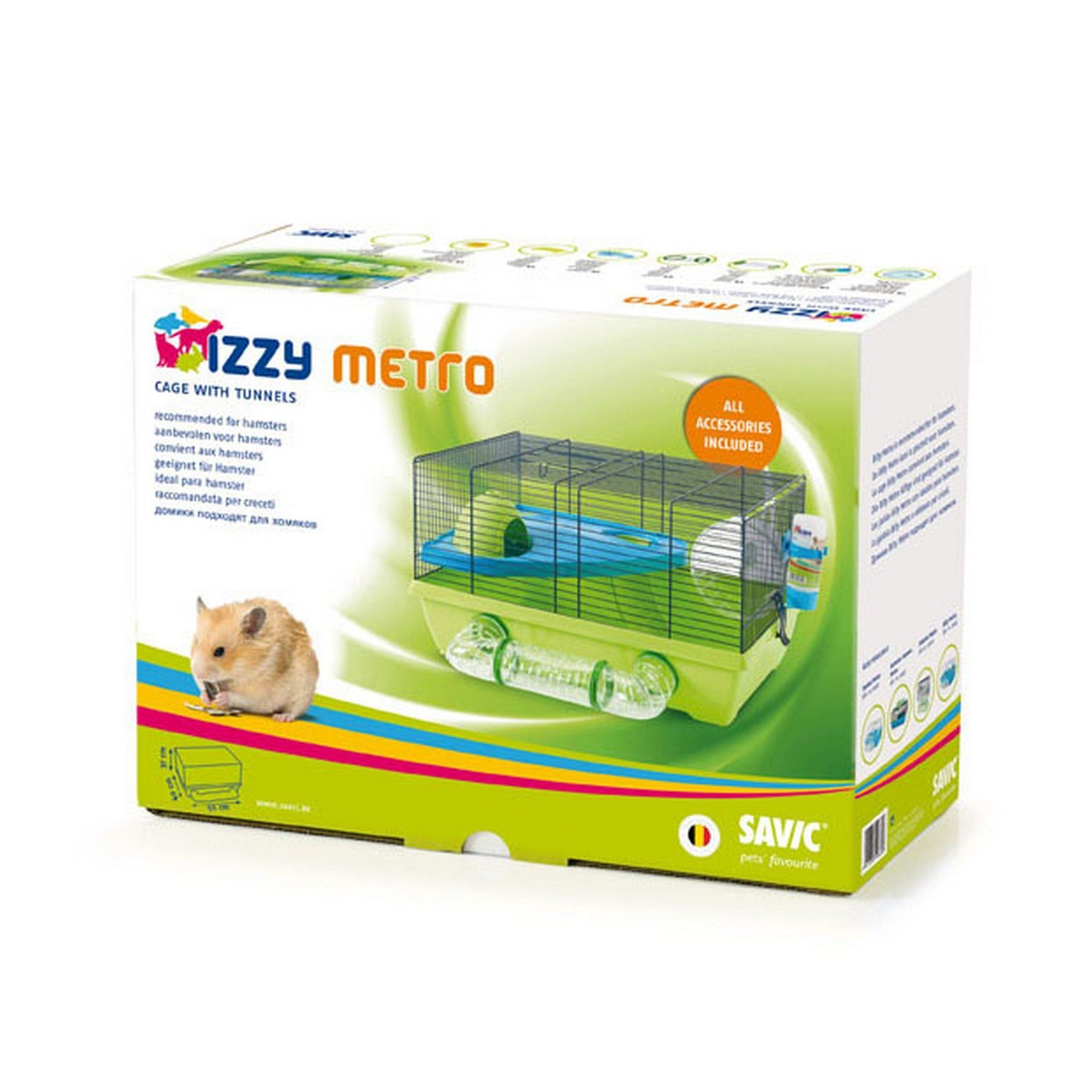 Savic Izzy Metro Hamster Cage Assorted Colors One Size