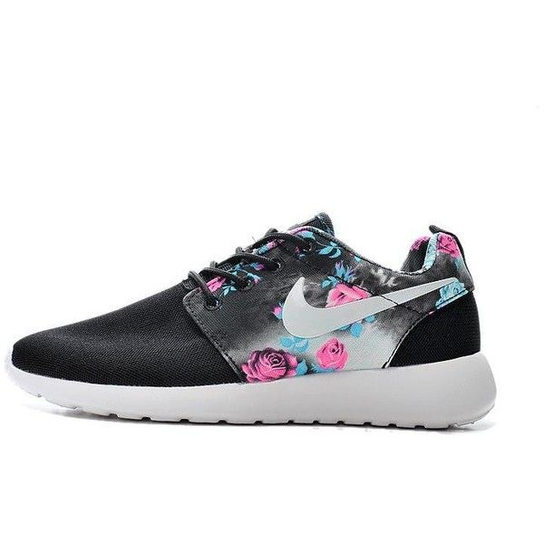 quality design 0065e 03c17 ... discount code for 2015 nike roshe run shoes print floral collection  black blue womens liked d1620
