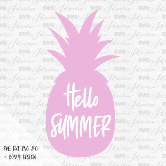 Hello Summer Svg, summer svg, summer svg women, Pineapple