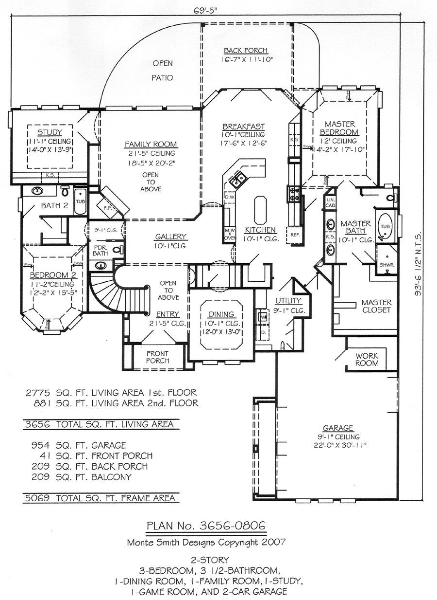 Plan No. 36560806 How to plan, House plans 2 story