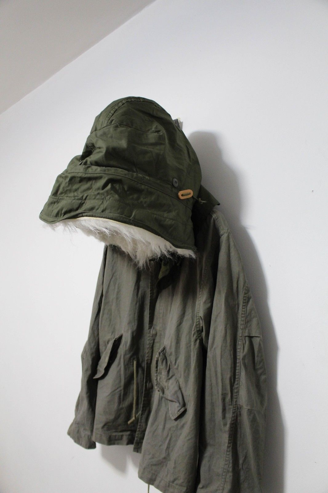 16c33b13c1b9d OG Helmut Lang 1999 Vintage Olive Hooded Military Field Jacket ...