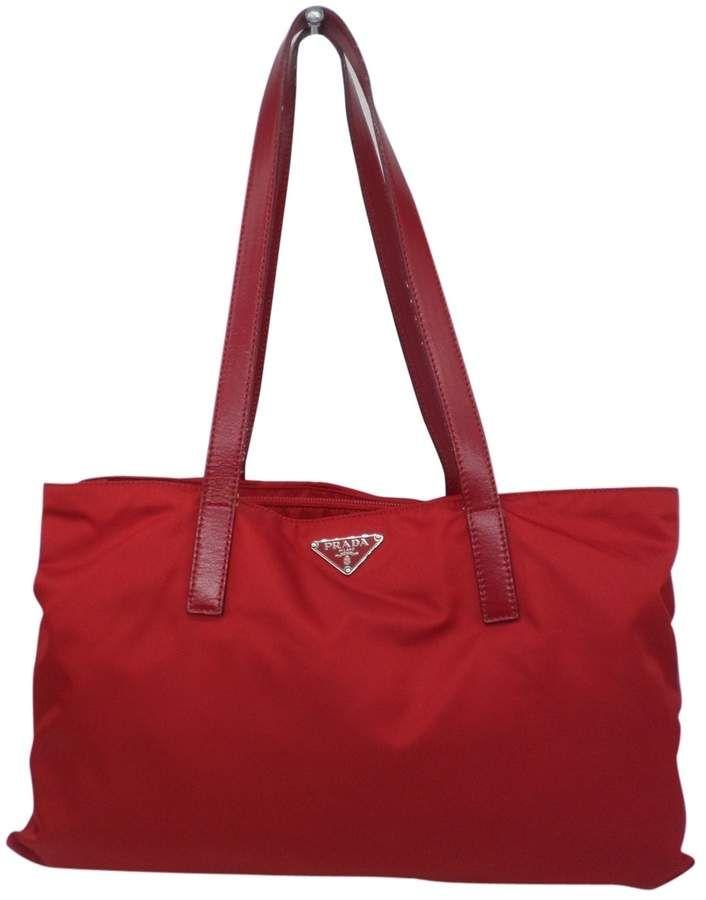 Prada Red Synthetic Handbag