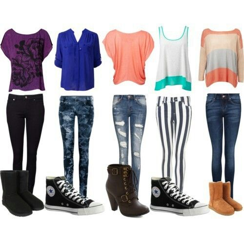new product a8595 605ca I would ware all these cute school outfits for girls all super cute!