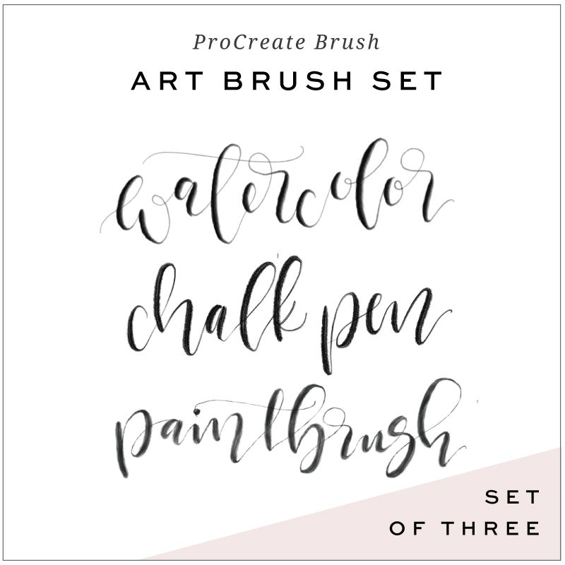 Calligraphy brushes for procreate app hand lettering