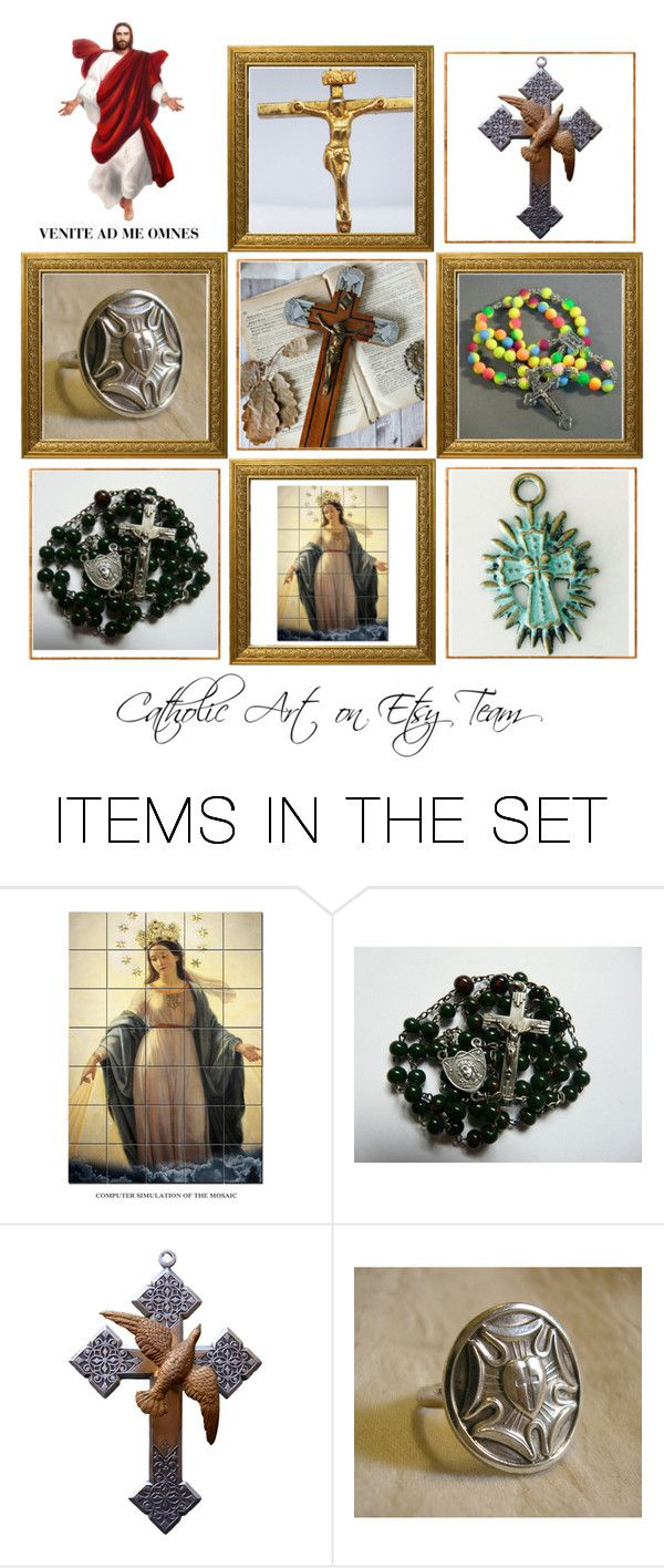 """Religious Art on Etsy by TerryTiles2014 - Volume 247"" by terrytiles2014 on Polyvore featuring arte"