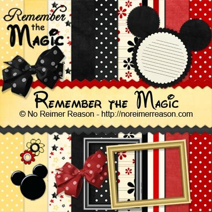 free disney mickey & minnie scrapbook kit printable / clip art ...