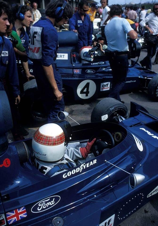 François Cevert & Jackie Stewart - Interlagos, 1973.