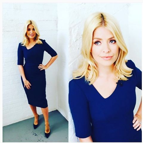 So excited to see #itvthismorning #hollywilloughby rocking our #CecilyVictoria dress today! Only £150 online now #CelebsWearCecily #dresswithstyle #dresswithclass #dress4success #itv #bluedress #workwardrobe #wearcecily #workdress #workwardrobe #officestyle #officechic