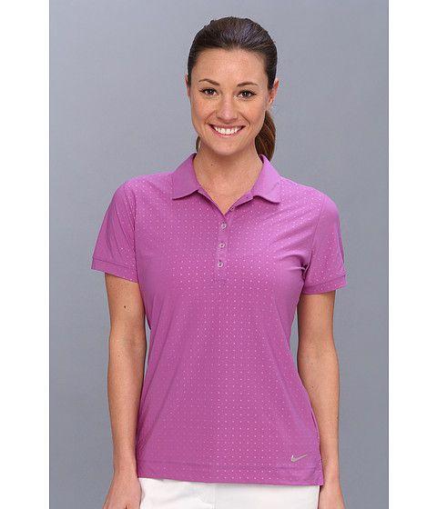 Nike Golf Dot Emboss Polo Violet Shade/Metallic Silver - 6pm.com