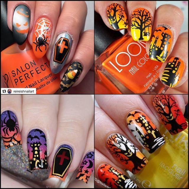 Halloween Nails Plates Stamp Decoration DIY Manicure Nail Art ...