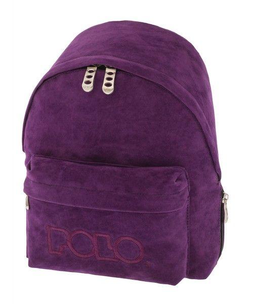 3d047b8eaed Σακιδιο polo mini velvet μωβ | Τσάντες Νηπίου / Kindergarten Bags ...