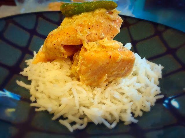 Turmeric and Sage: Salmon in Mustard Gravy
