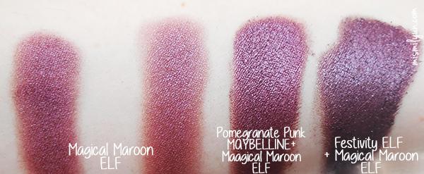 Si te van los rojos, te encantará este pigmento (y su precio) MAGICAL MAROON de ELF mismilyun.com © Ibuki