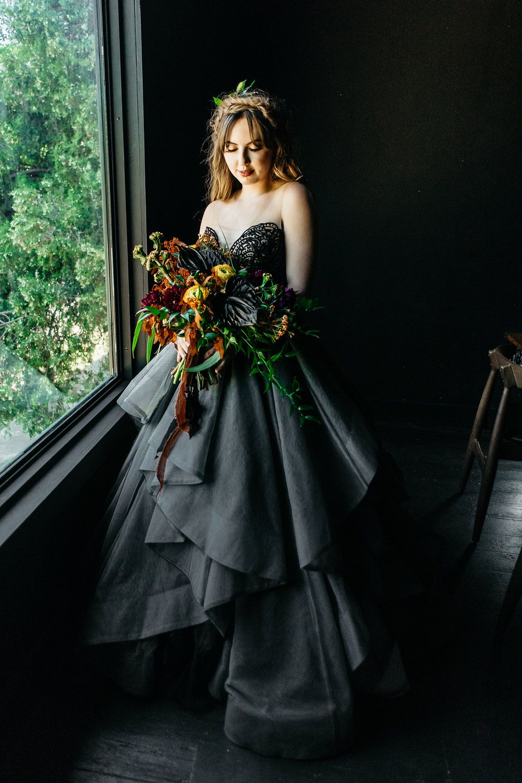 Haunted House Wedding Halloween Styled Shoot at Fort Worth