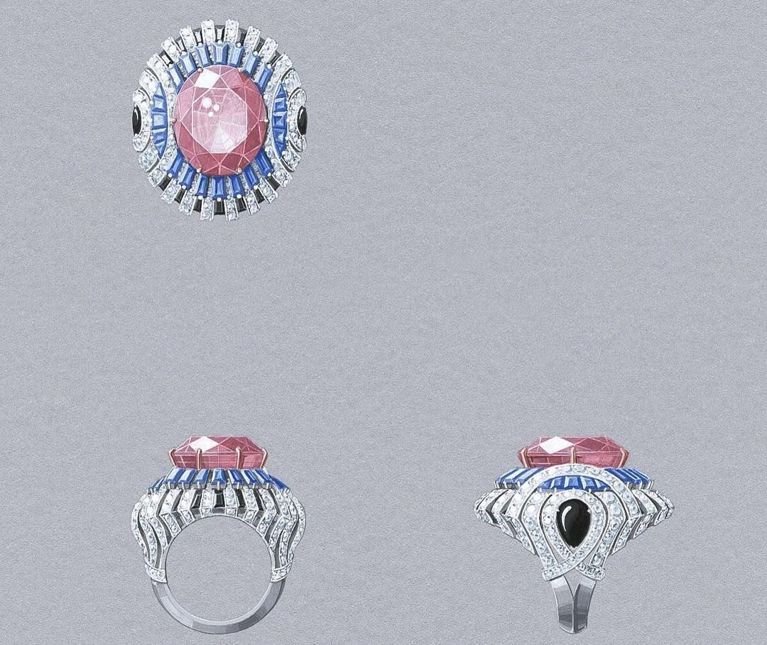 Design by @vancleefarpels #jewelry #jewellery #jewelryrendering #jewelrydesigner…