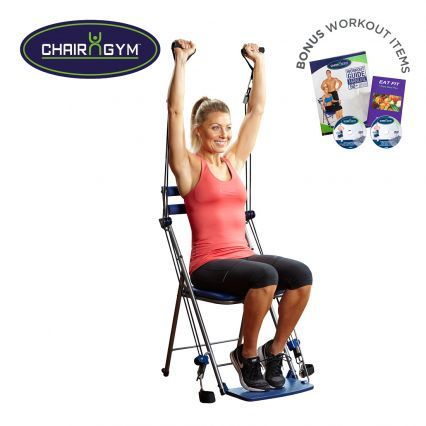 chair gym system an entire gym in one compact and portable chair