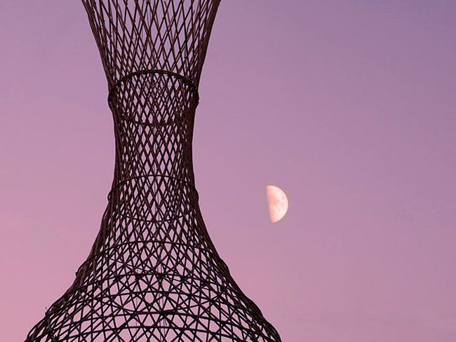 Handwoven dew collecting tower aims to ease Africa's water