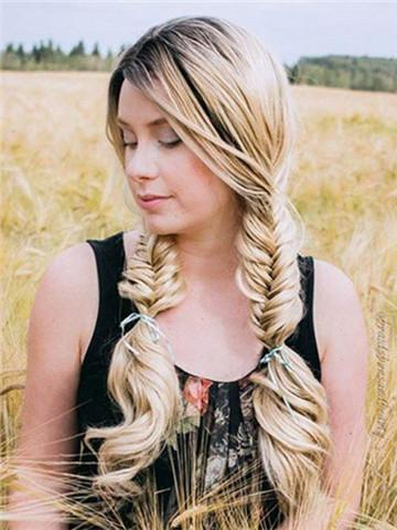 Long Sugar Cookie Gold Wave Synthetic Lace Front Wig
