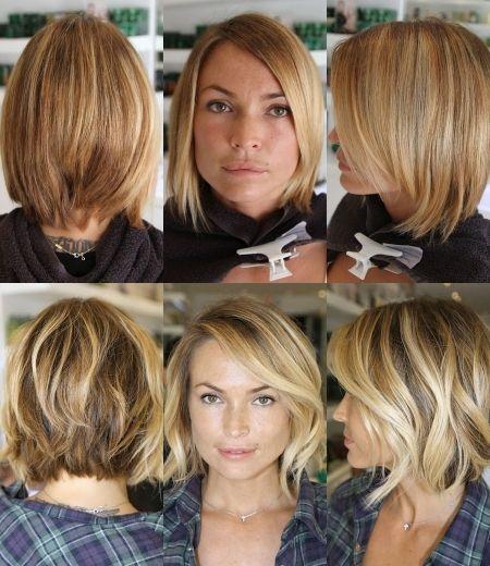 überraschende Frisuren Halblang Vorher Nachher Idee Hair Style