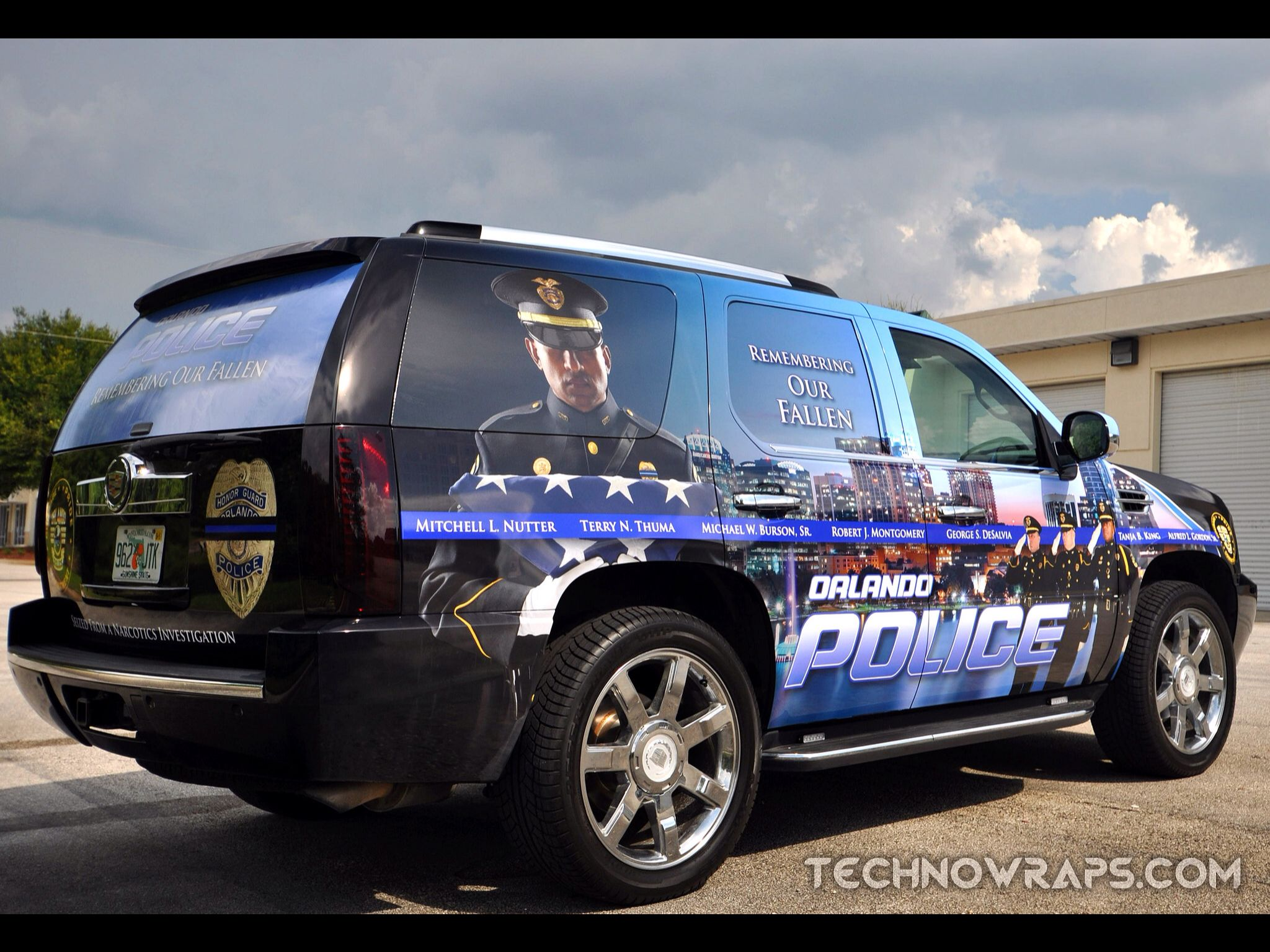 Custom Designed Police Vehicle Wrap By Technosigns In Orlando Florida More Law Enforcement Vehicle Wraps And Graphics Can Police Cars Law Enforcement Police