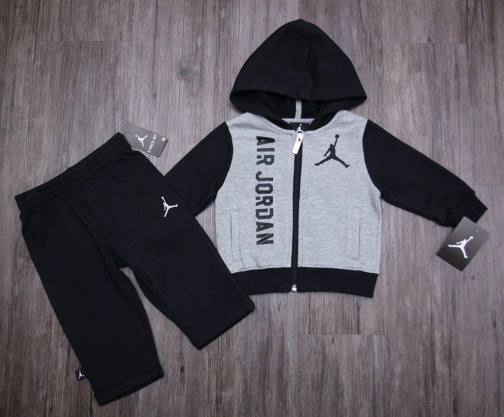 6ea5788f6dfb3e Air Jordan Baby Boy 2 Piece Jogging Set ~ Tracksuit ~ Gray   Black ~ Jumpman   Jordan  Everyday