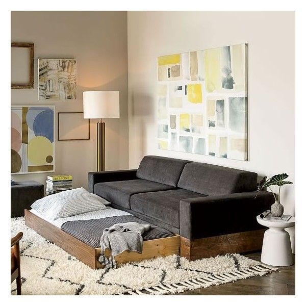 Best West Elm Emery Sofa Daybed Trundle 1 999 Liked On 400 x 300