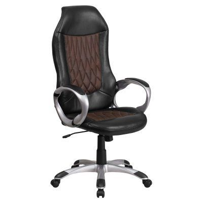 flash furniture high back fabric and black vinyl executive swivel