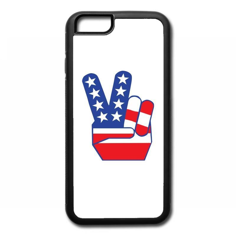 peace sign hand iPhone 6/6s Rubber Case