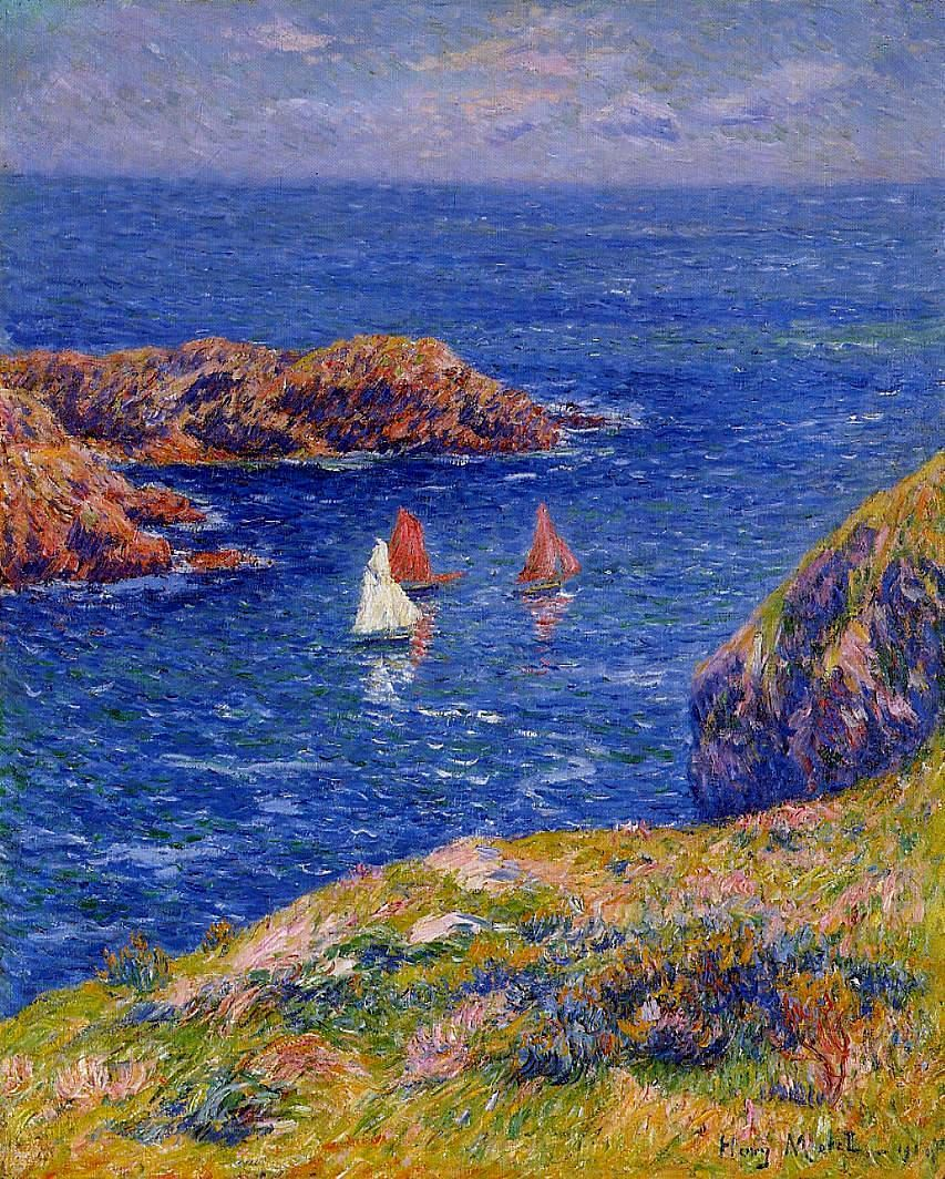 Quessant, Calm Day, 1905. Henri Moret